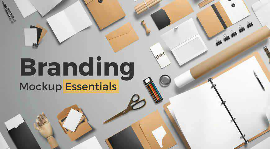Branding Mockup Essentials Photoshop PSD Mockup Template