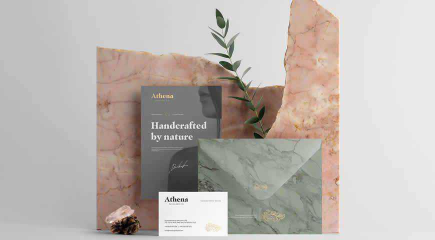 Athena Branding Photoshop PSD Mockup Template