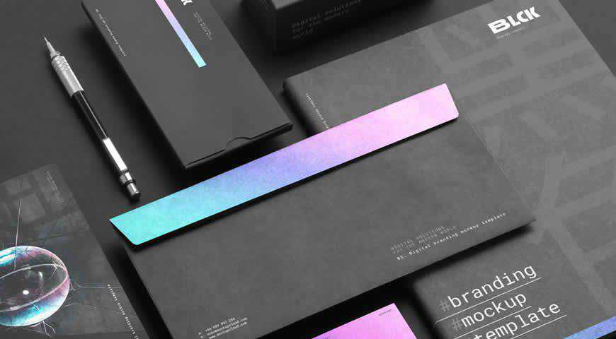 Blck Branding Kit Photoshop PSD Mockup Template