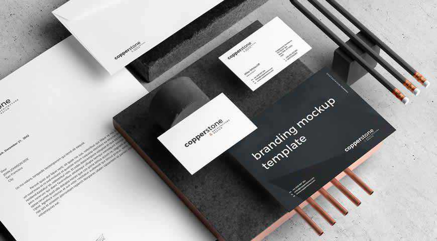 Copperstone Branding Photoshop PSD Mockup Template