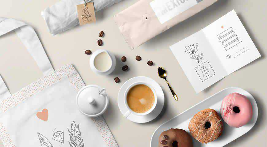 Coffee Branding Photoshop PSD Mockup Template