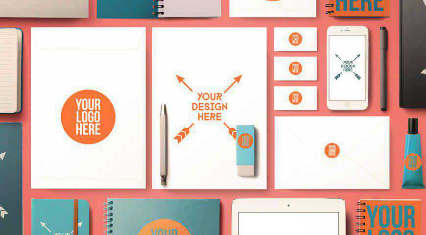 Back to School Office Supplies Photoshop PSD Mockup Template