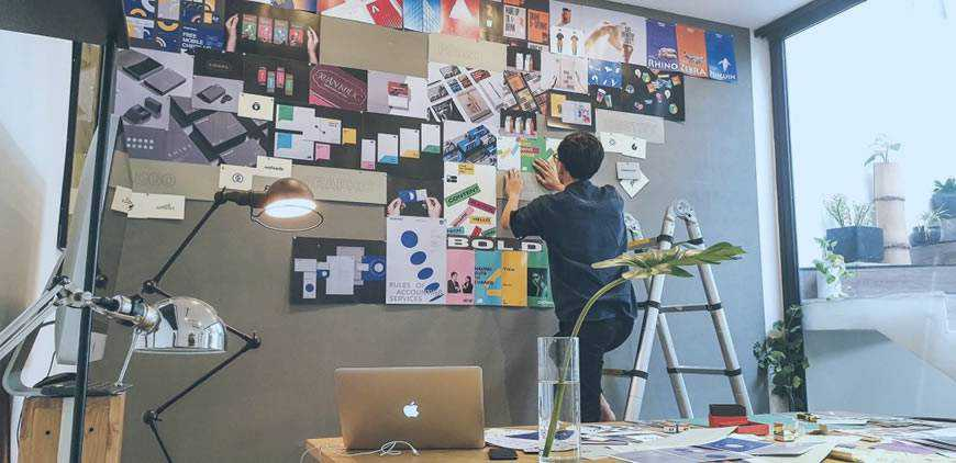 man designer office creativity