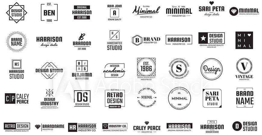 Minimal Logo Template Collection logo creator kit