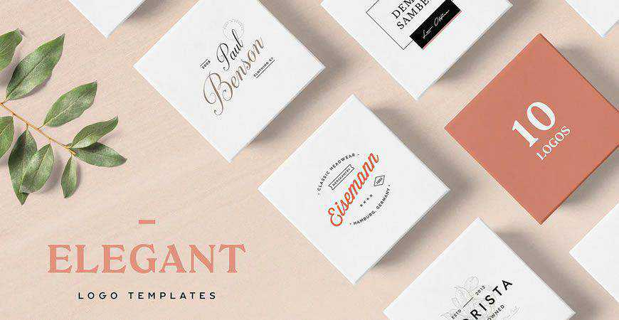 Elegant logo creator kit template