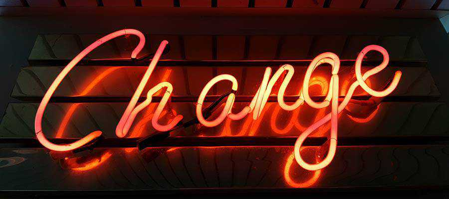 A neon sign.
