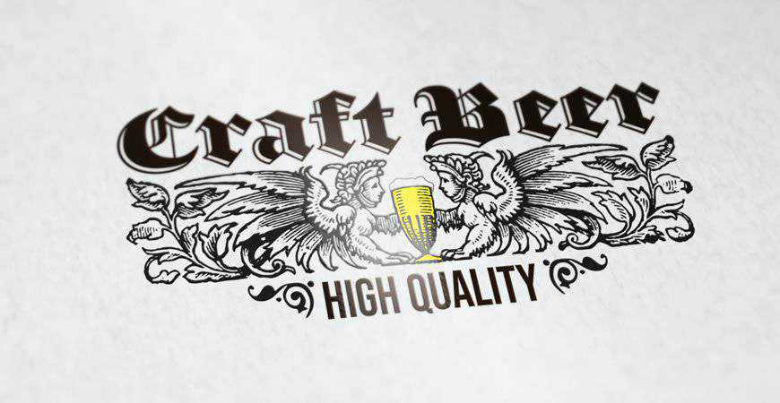 Craft Beer Logo Template food drink eat