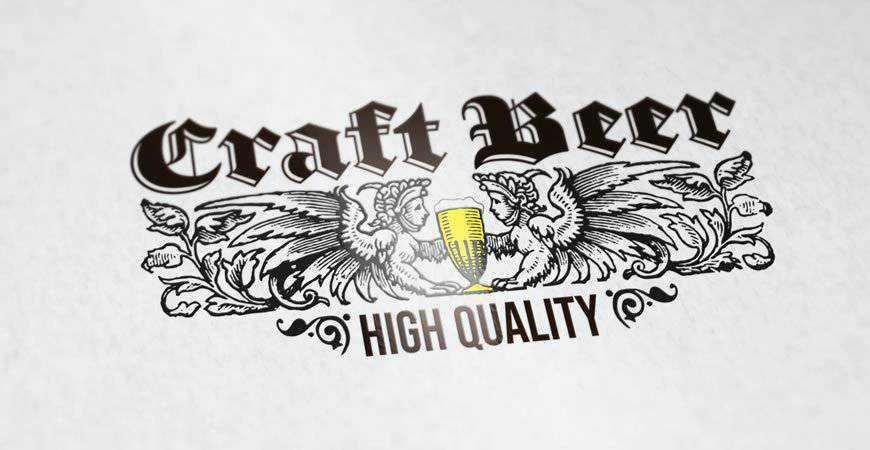 Craft Beer Logo Template food drink eat