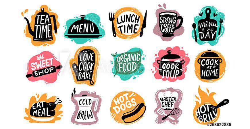 Food Bakery Kitchen Logo Templates food drink eat