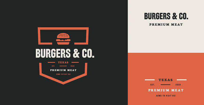 Burgers and Co Logo Template food drink eat