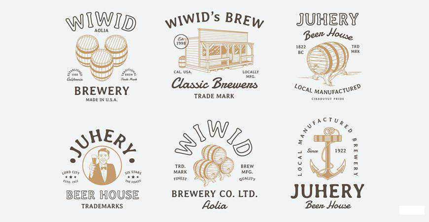 Vintage Beer Badges food drink eat