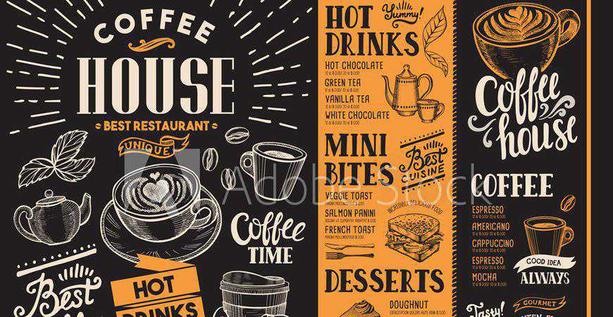Coffee Shop Restaurant Logo & Badge Templates food drink eat