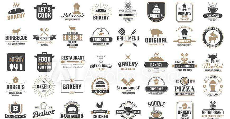 Retro Restaurant Vector Logo Templates food drink eat