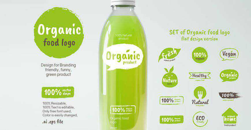 Organic Logo Templates food drink eat