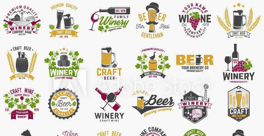 Craft Beer Logo Templates food drink eat