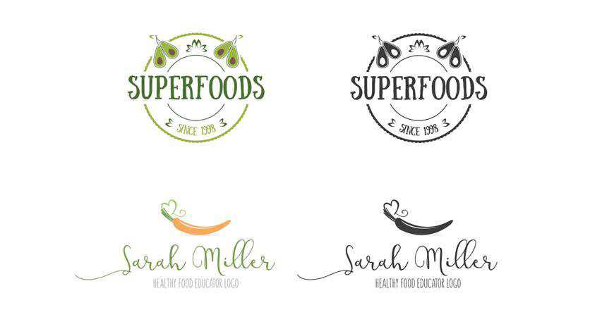 Unique Minimal Logos food drink eat