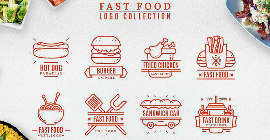 Fast Logo Collection food drink eat