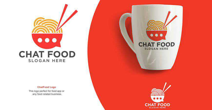 Chat Food Logo Template drink eat
