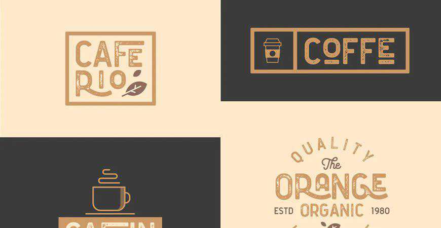 Cafe Bar Restaurant Vintage Logo Kit food drink eat