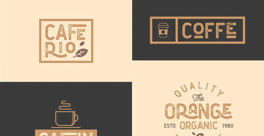 Cafe Bar Restaurant Vintage Logo Kit food drink eat