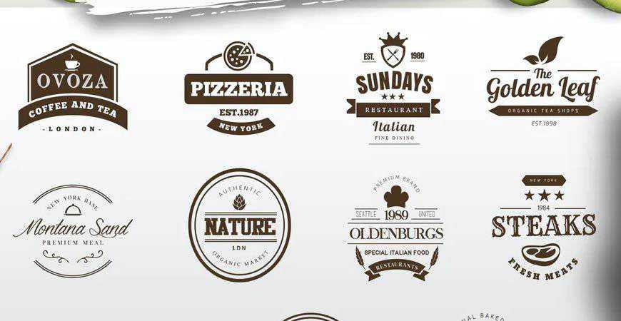 Cafe Logo Badge Templates food drink eat