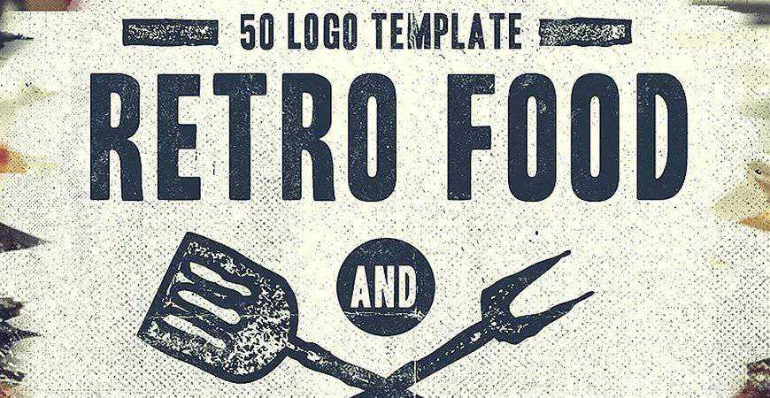 Vintage Restaurant Badges Logos food drink eat