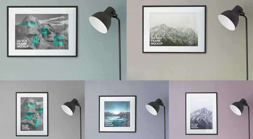 Photo Poster Frames Photoshop PSD Mockup Template