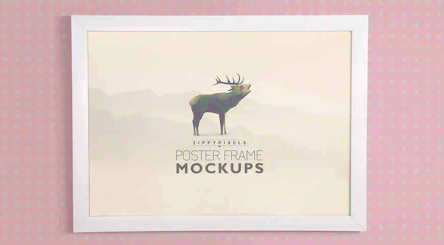Poster Frame Photoshop PSD Mockup Template