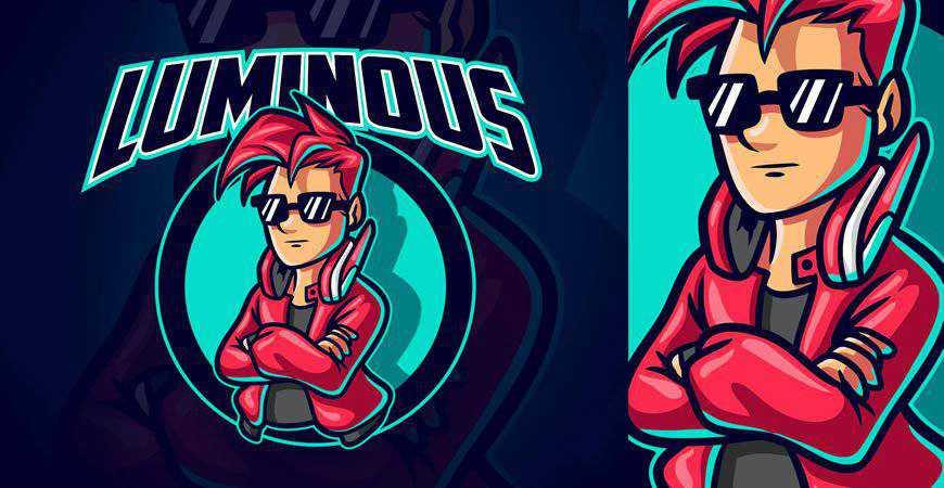 Gamer Boy Sports eSports Mascot Logo Template gamer video game