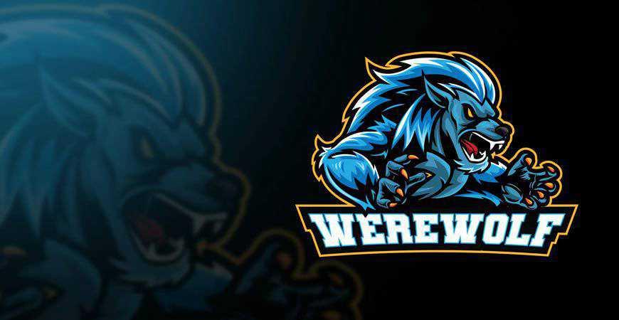Werewolf Esport Logo Template gamer video game