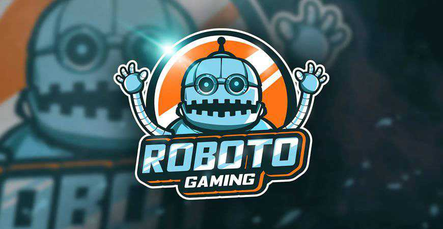 Roboto Gaming Mascot Esport Logo Template gamer video game