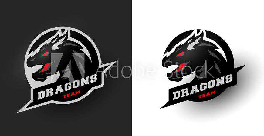 Dragon Sport Logo Template gamer video game