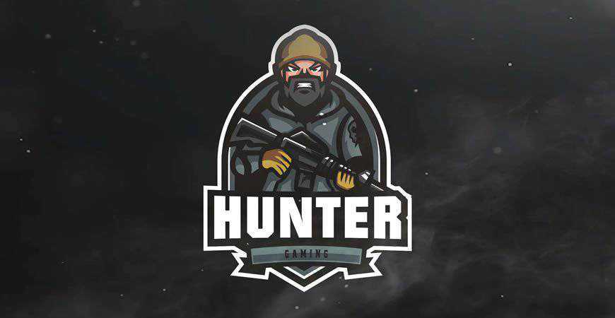 Hunter Gaming Sport eSports Logo Template gamer video game