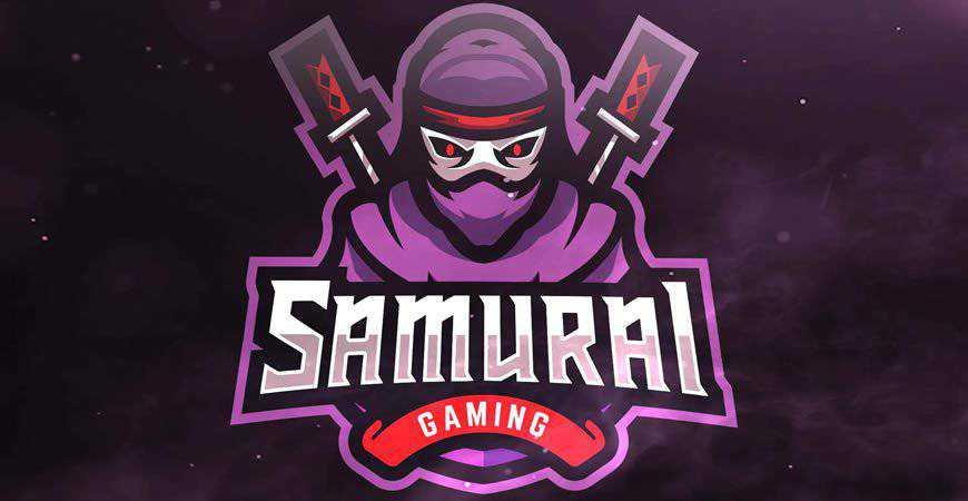 Samurai Gaming Sport Logo Template gamer video game