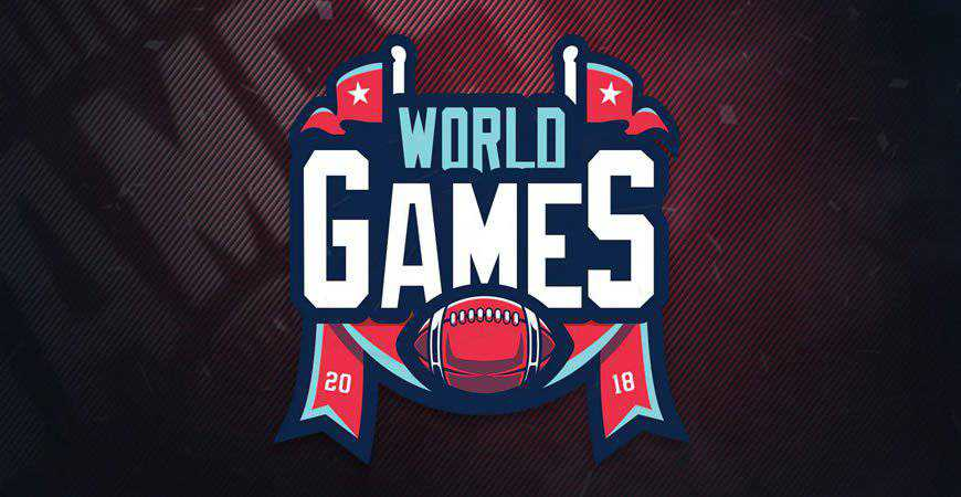 Worlds Games Sports Logo Template gamer video game