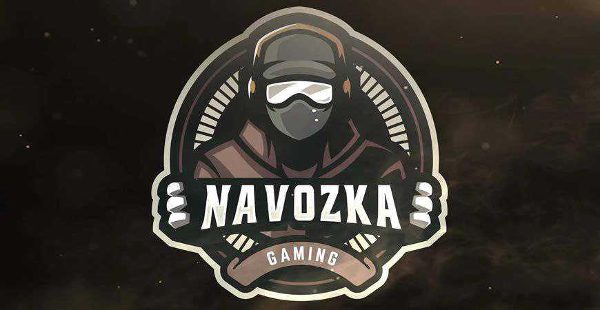 Human Gaming Logo Template gamer video game