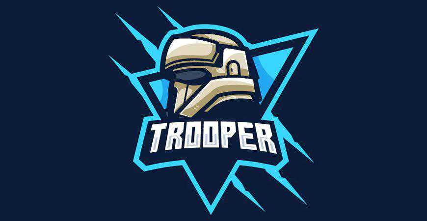 Trooper Sports & eSports Logo Template gamer video game