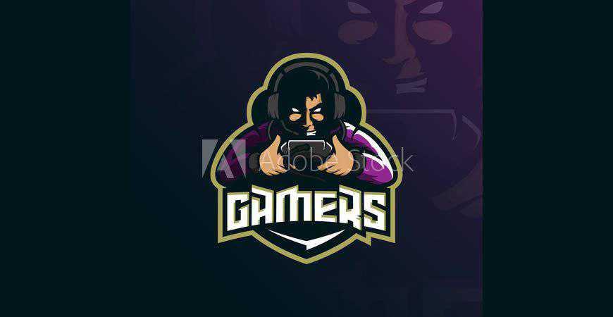 Gamer Logo Template video game