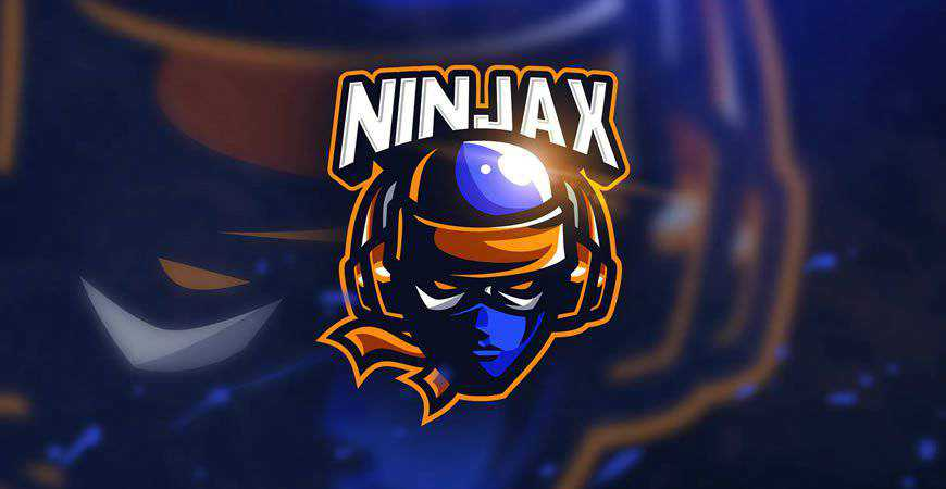 Ninja Game Mascot & Logo Template gamer video game
