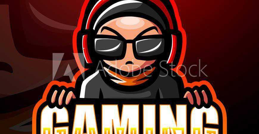 Gamer Boy Logo Template gamer video game
