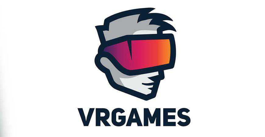 VR Games Logo Template gamer video game