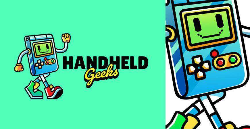 Handheld Gaming Logo Template gamer video game