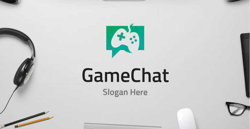 Game Chat Logo Template gamer video game