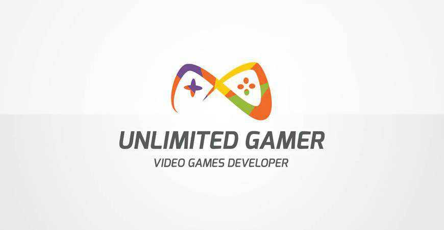 Unlimited Gamer Logo Template gamer video game