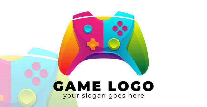Colorful Game Logo Template gamer video game