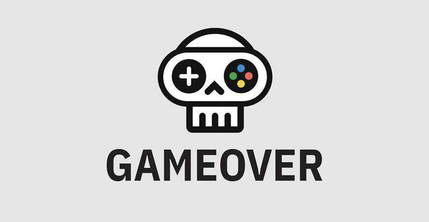 Game Over Logo Template gamer video
