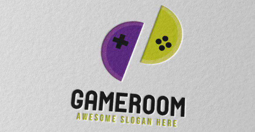 Gameroom Logo Template gamer video game