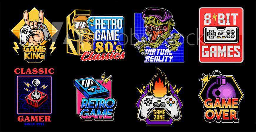 Gamer Mascot & Logo Templates gamer video game