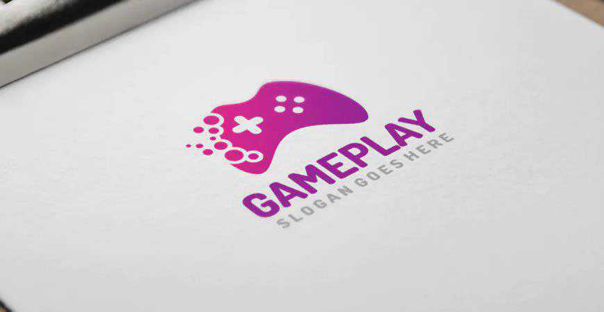 Game Play Logo Template gamer video game