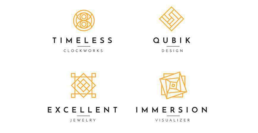 Minimal geometric logo template